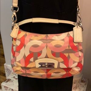 Coach scarf Large C pattern crossbody purse